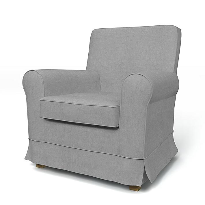 IKEA - Överdrag till Jennylund fåtölj, Graphite, Linne - Bemz