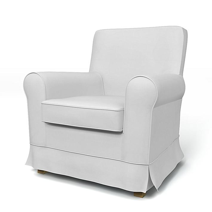 IKEA - Överdrag till Jennylund fåtölj, Silver Grey, Bomull - Bemz
