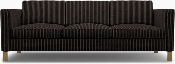 IKEA - Bezug für 3er-Sofa Karlanda, Graphite Grey, Conscious - Bemz