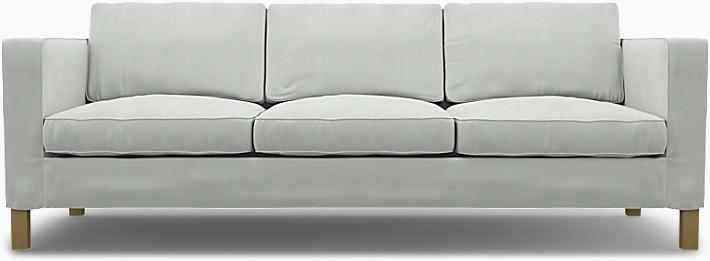 IKEA - Överdrag till Karlanda 3-sitssoffa, Silver Grey, Linne - Bemz