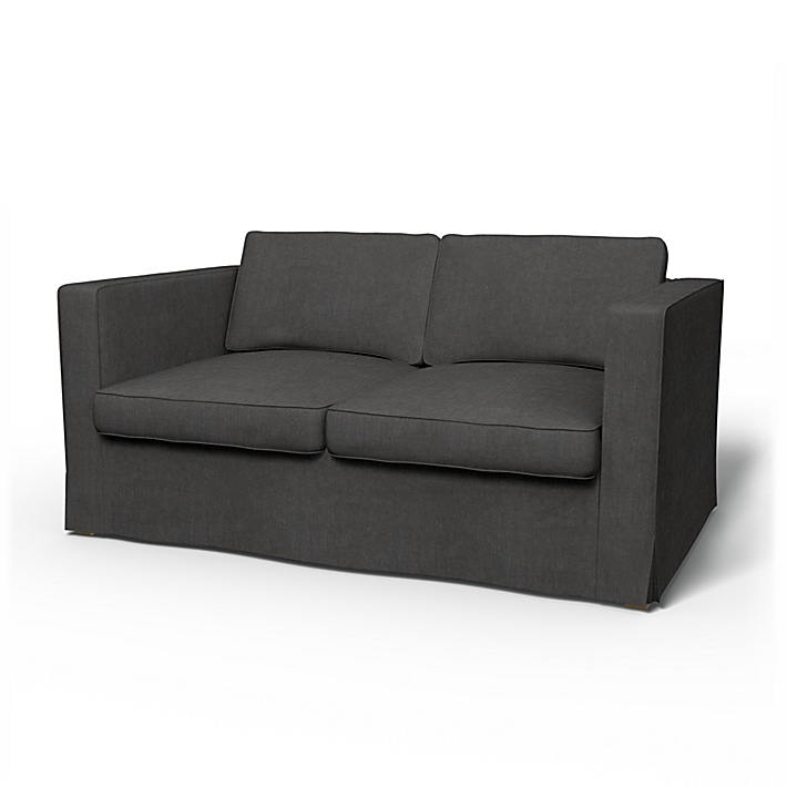 IKEA - Bezug für 2er-Sofa Karlanda, Espresso, Leinen - Bemz