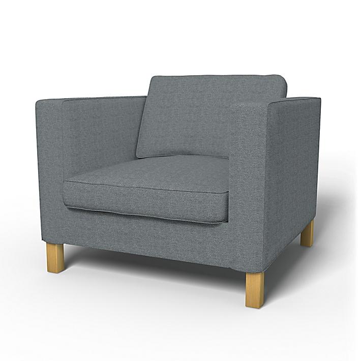 IKEA - Trekk til Karlanda lenestol, Denim, Conscious - Bemz