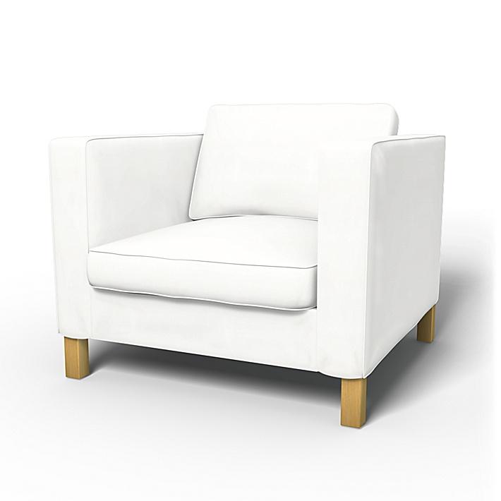 IKEA - Överdrag till Karlanda fåtölj, Absolute White, Bomull - Bemz