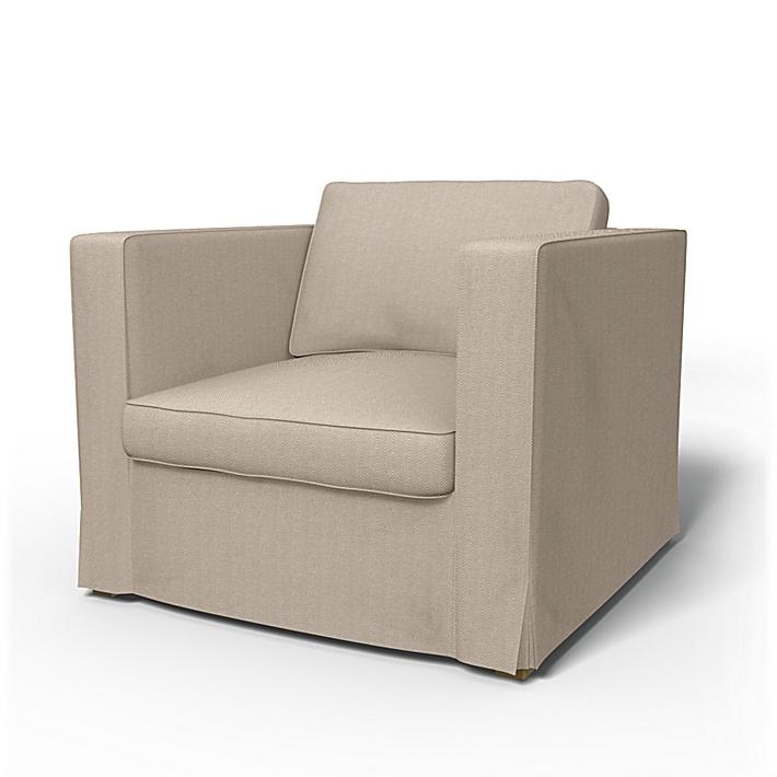 IKEA - Överdrag till Karlanda fåtölj, Sand Beige, Conscious - Bemz