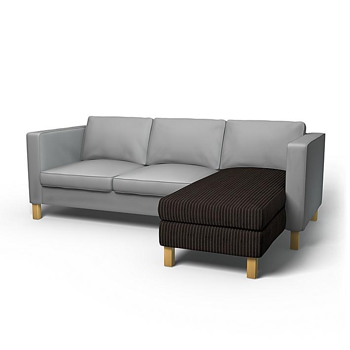 IKEA - Överdrag till Karlanda schäslong påbyggnadsdel, Graphite Grey, Conscious - Bemz