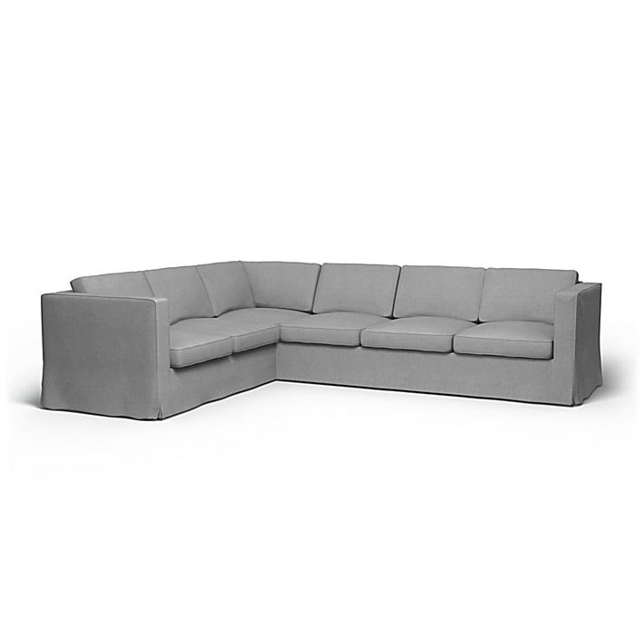 IKEA - Bezug für Ecksofa Karlanda (2+3), Graphite, Leinen - Bemz