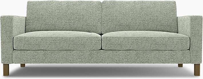 IKEA - Överdrag till Karlstad 3-sitssoffa, Pistachio, Wool-look - Bemz