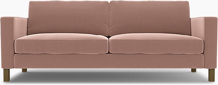 IKEA - Överdrag till Karlstad 3-sitssoffa, Dusty Pink, Sammet - Bemz