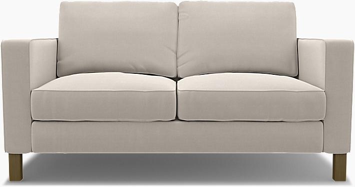 IKEA - Trekk til Karlstad 2-seters sofa, Chalk, Lin - Bemz