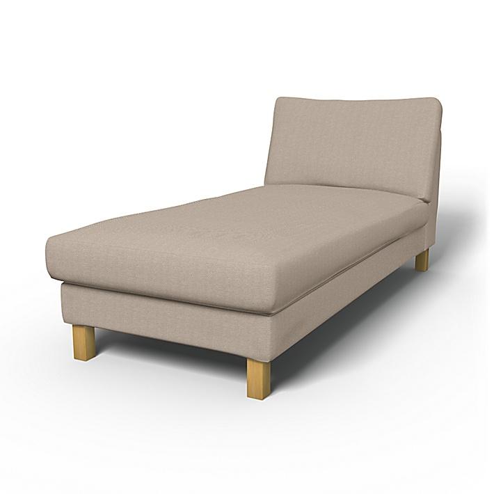 IKEA - Överdrag till Karlstad fristående schäslong, Sand Beige, Conscious - Bemz