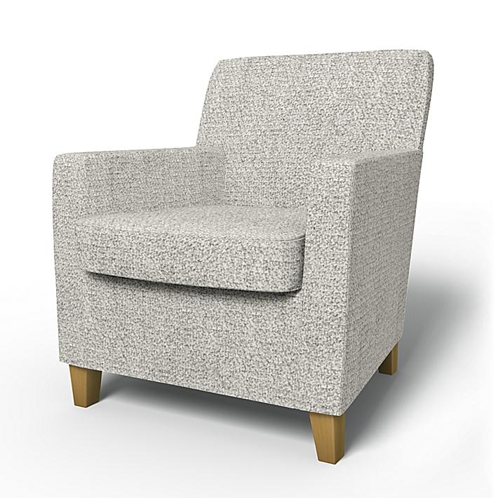 IKEA - Överdrag till Karlstad fåtölj (liten modell), Driftwood, Wool-look - Bemz