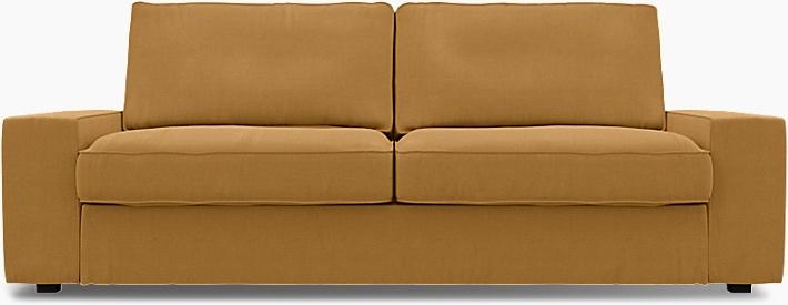 IKEA - Överdrag till Kivik 3-sitssoffa, Mustard, Linne - Bemz