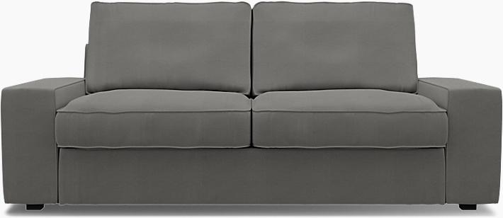 IKEA - Trekk til Kivik 2-seters sofa, Zinc Grey, Bomull - Bemz