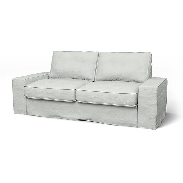 IKEA - Överdrag till Kivik 2-sitssoffa, Silver Grey, Linne - Bemz