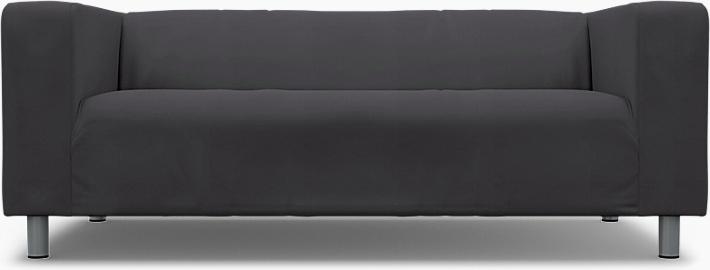 IKEA - Överdrag till Klippan 2-sitssoffa, Graphite Grey, Bomull - Bemz