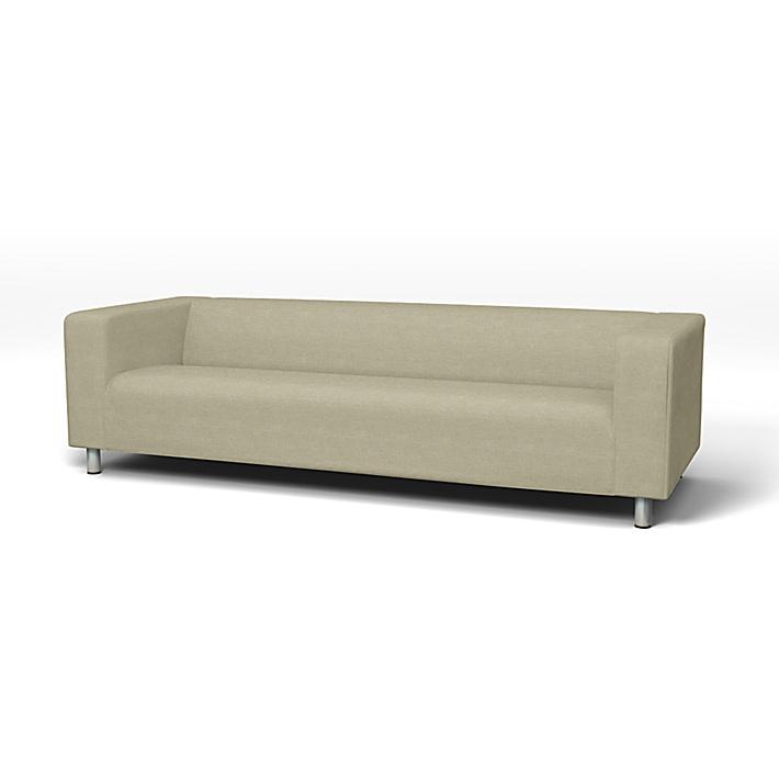 IKEA - Bezug für 4er-Sofa Klippan, Pebble, Leinen - Bemz