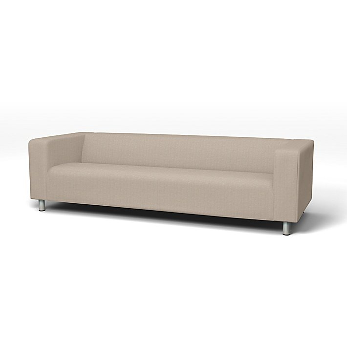 IKEA - Överdrag till Klippan 4-sitssoffa, Sand Beige, Conscious - Bemz