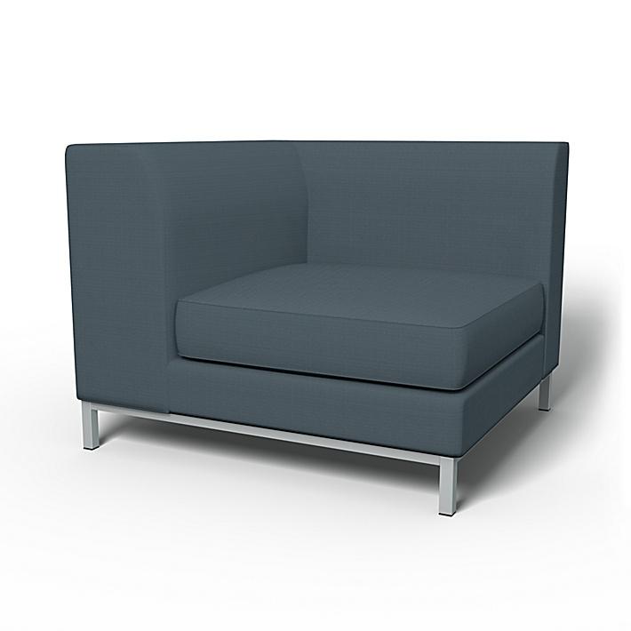 IKEA - Trekk til Kramfors hjørnemodul, Graphite Grey, Bomull - Bemz