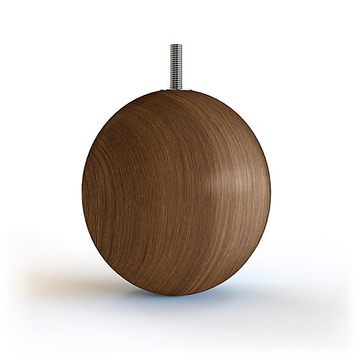 Globen Runt möbelben i trä 10cm - Walnut