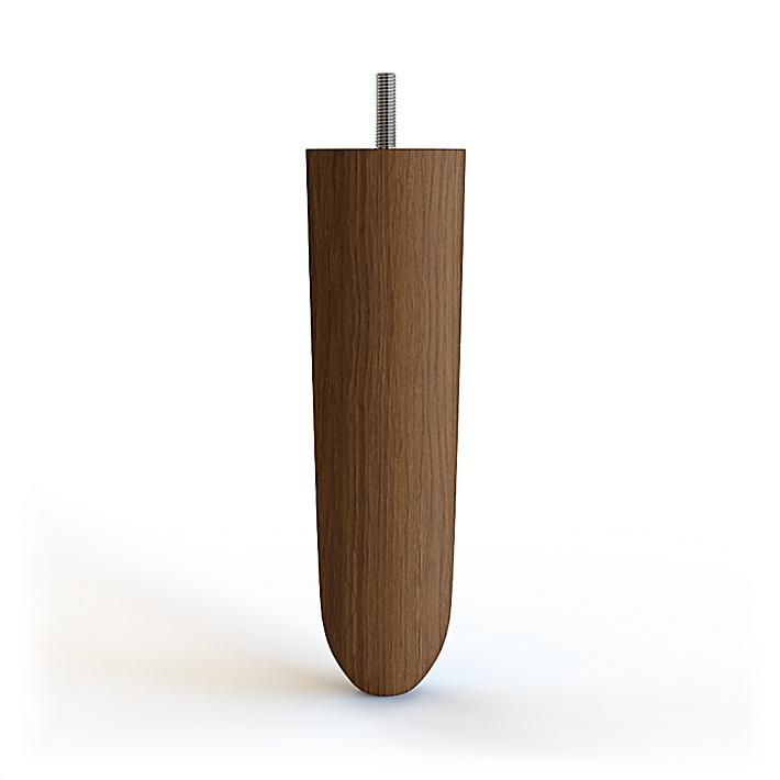 Kastell Avsmalnande möbelben i trä 18cm - Walnut