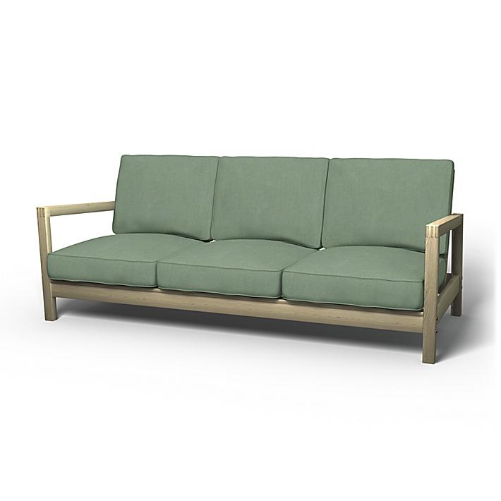 IKEA - Överdrag till Lillberg 3-sitssoffa, Thyme, Linne - Bemz
