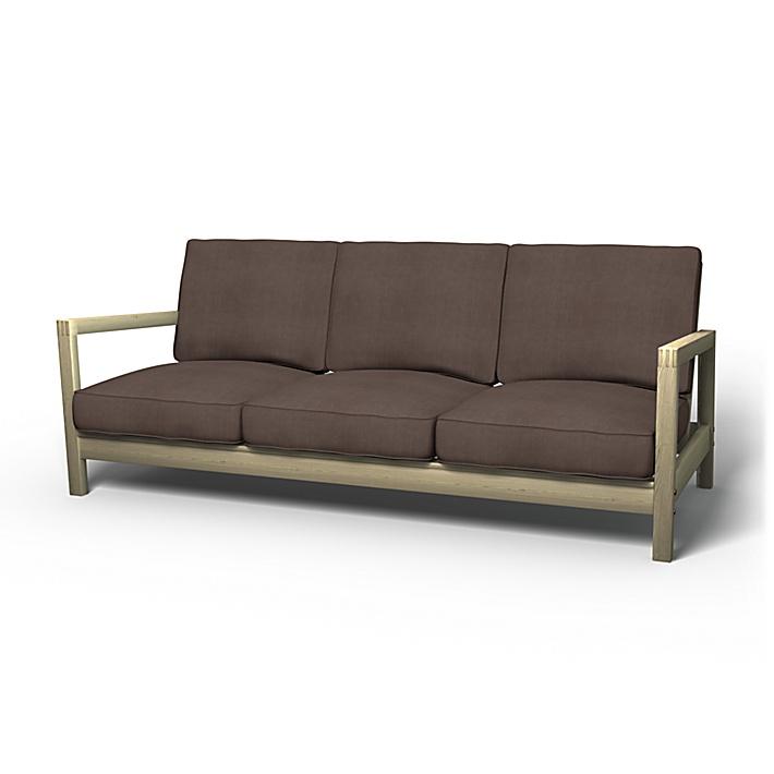 IKEA - Överdrag till Lillberg 3-sitssoffa, Cocoa, Linne - Bemz