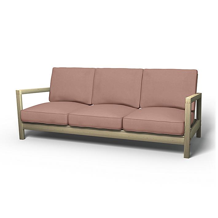 IKEA - Trekk til Lillberg 3-seters sofa, Dusty Pink, Fløyel - Bemz