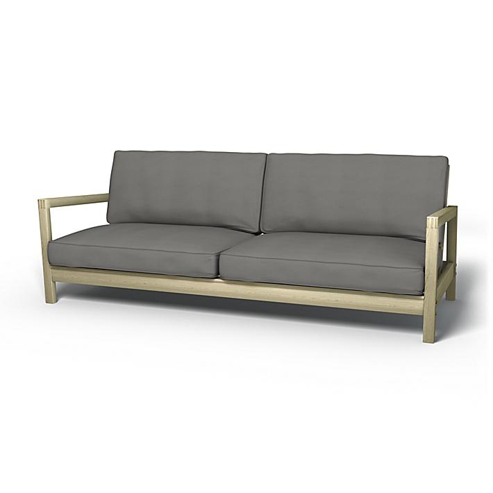 IKEA - Trekk til Lillberg sovesofa, Zinc Grey, Bomull - Bemz