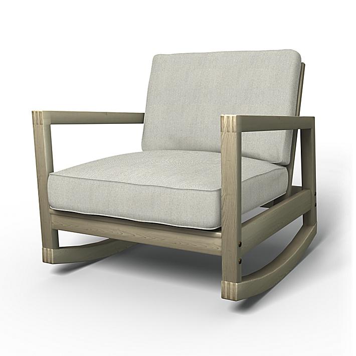 IKEA - Överdrag till Lillberg gungstol, Silver Grey, Conscious - Bemz