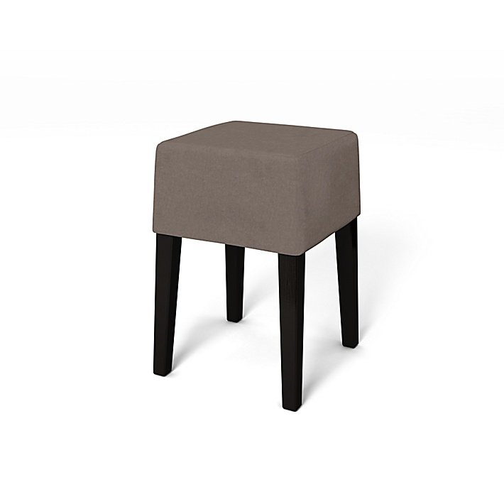 IKEA - Trekk til Nils krakk, Taupe, Fløyel - Bemz