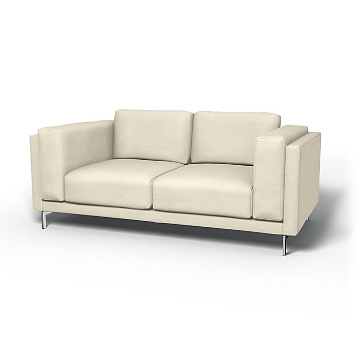 IKEA - Överdrag till Nockeby 2-sitssoffa, Sand Beige, Conscious - Bemz