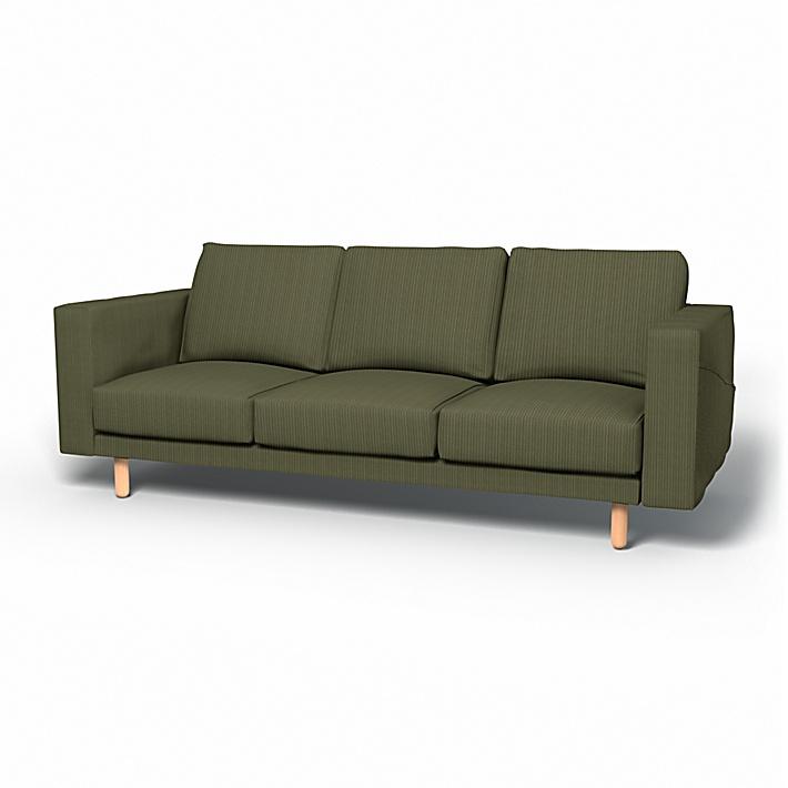 IKEA - Överdrag till Norsborg 3-sitssoffa, Winter Moss, Manchester - Bemz
