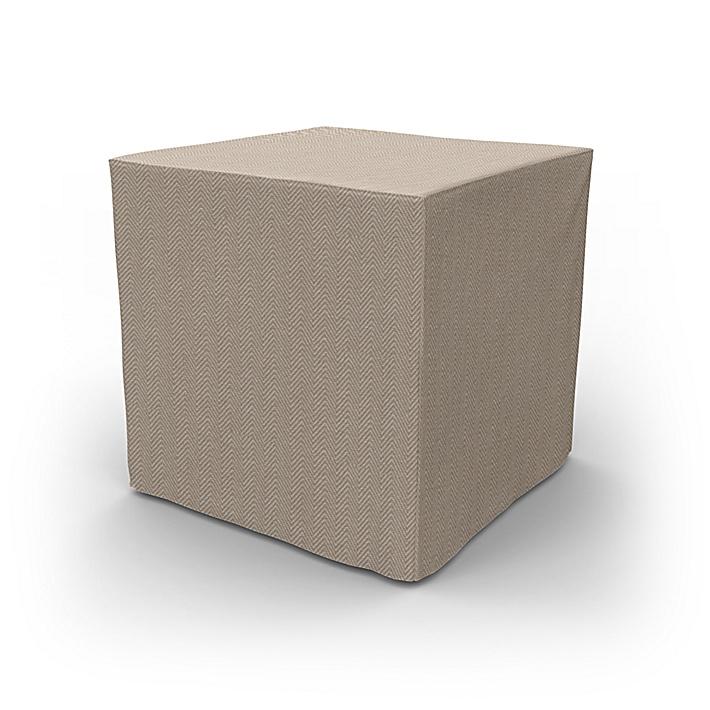 IKEA - Överdrag till Pällbo fotpall, Sand Beige, Conscious - Bemz