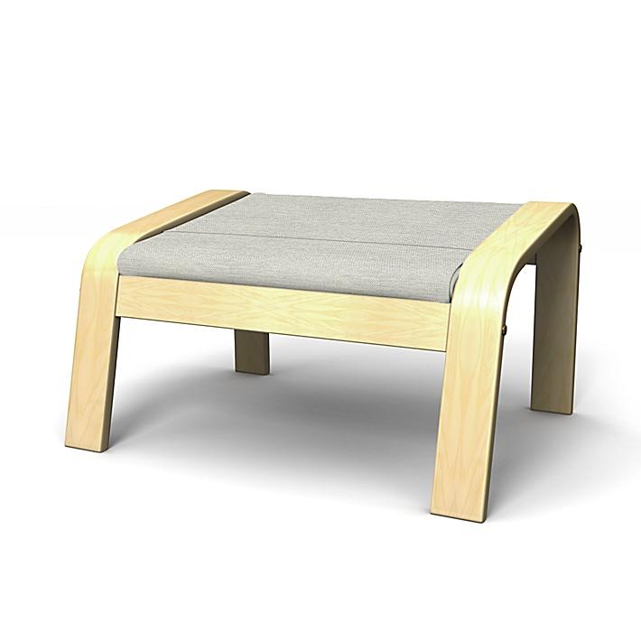 IKEA - Överdrag till Poäng fotpall, Silver Grey, Conscious - Bemz