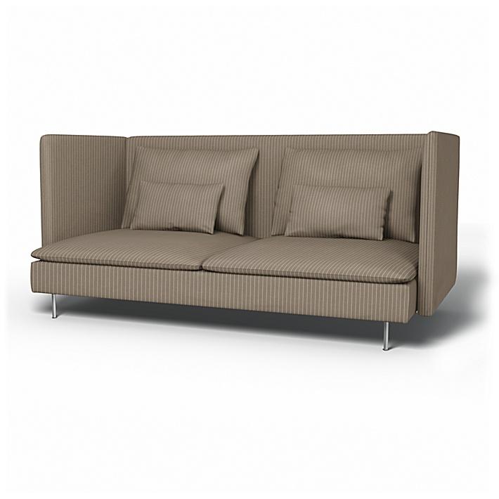 IKEA - Överdrag till Söderhamn 3-sitssoffa med hög rygg, Beige, Conscious - Bemz