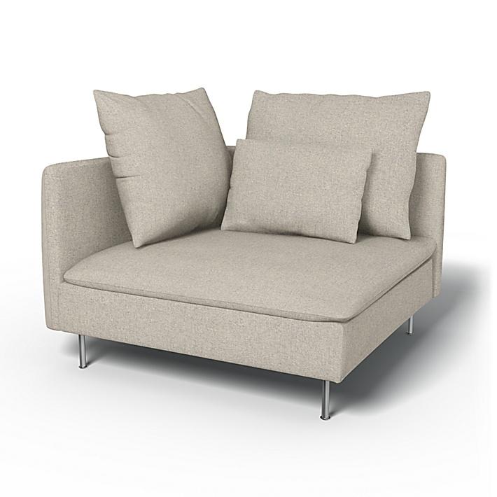 IKEA - Trekk til Söderhamn hjørneseksjon, Silver Grey, Conscious - Bemz