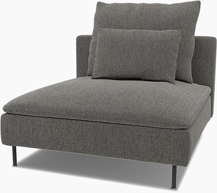 IKEA - Trekk til Söderhamn 1-seters seksjon, Taupe,  - Bemz