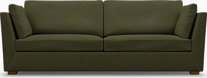 IKEA - Trekk til Stockholm 3,5-seters sofa, Moss Green, Bomull - Bemz