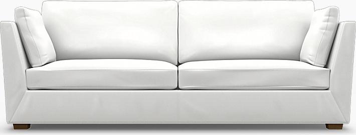 IKEA - Trekk til Stockholm 3,5-seters sofa, Absolute White, Bomull - Bemz