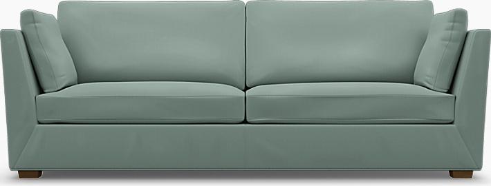 IKEA - Trekk til Stockholm 3,5-seters sofa, Mineral Blue, Bomull - Bemz