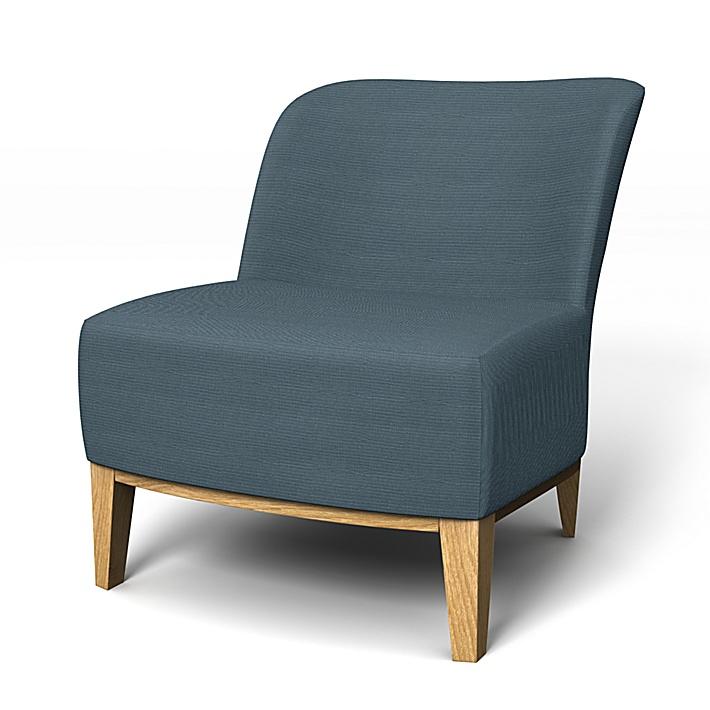 IKEA - Överdrag till Stockholm fåtölj, Steel Blue, Bomull - Bemz