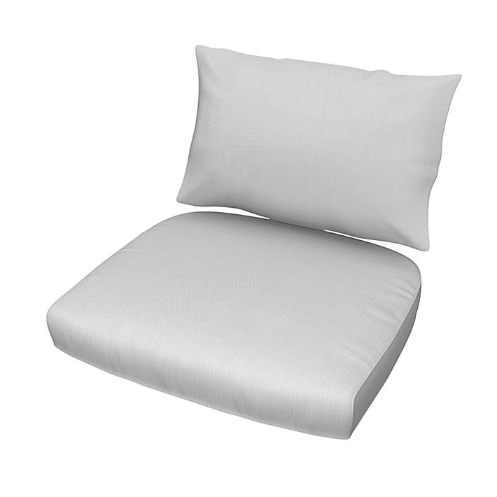 IKEA - Putetrekksett til Stockholm stol, rotting, Silver Grey, Bomull - Bemz