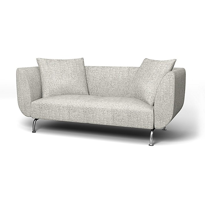 IKEA - Trekk til Strömstad 2-seters sofa, Driftwood, Ull utseende - Bemz