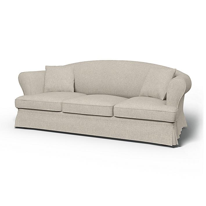 IKEA - Överdrag till Sundborn 3-sitssoffa, Silver Grey, Conscious - Bemz