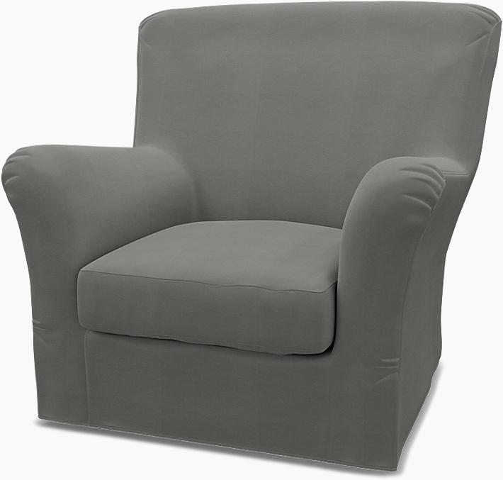 IKEA - Överdrag till Tomelilla fåtölj med hög rygg (standard modell), Zinc Grey, Bomull - Bemz