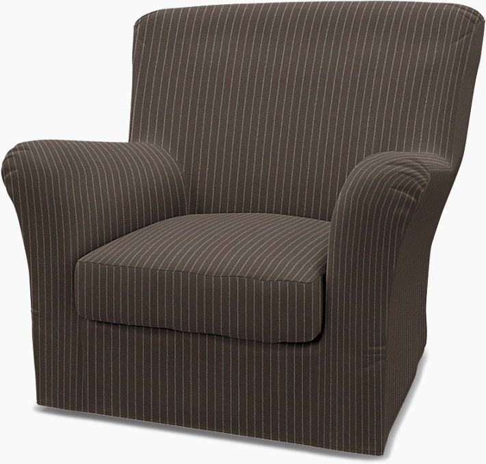 IKEA - Trekk til Tomelilla lenestol med høy rygg (standard modell), Taupe, Conscious - Bemz