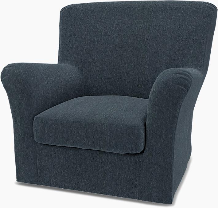 IKEA - Trekk til Tomelilla lenestol med høy rygg (liten), Denim,  - Bemz