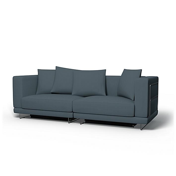 IKEA - Överdrag till Tylösand bäddsoffa, Graphite Grey, Bomull - Bemz