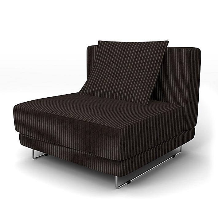 IKEA - Överdrag till Tylösand 1-sitssektion, Graphite Grey, Conscious - Bemz