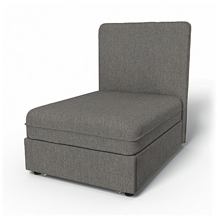 IKEA - Trekk til Vallentuna sittemodul med høy rygg og seng (80x100x46cm), Taupe,  - Bemz